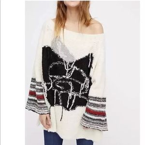 NEW Free People Last Rose Knit Sweater ivory